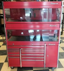 Snap on Half Sized Tool Box 2 Showcases That Sit On Top Rare