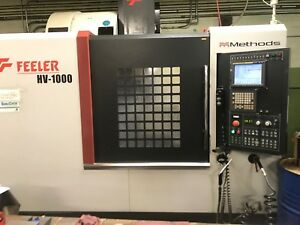 Used Feeler Hv 1000 Cnc Vertical Machining Center Mill 15k Rpm 30hp Fanuc Tsc