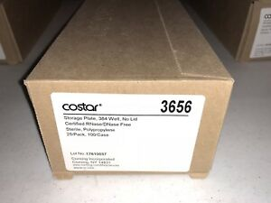 New Corning 384 well Storage Plates Clear Sterile pk25 cat 3656