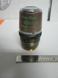 Optical Microscope Nikon Fluor Objective Dic 40x Infinity Optics Bin b2 c 98