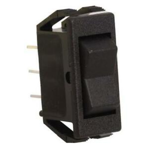 5pk Spdt On off on Panel Mount Rocker Switch Black 16a 125vac