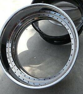 24x10 Chrome Barrel 5 Lip 2 Piece 40 Hole Forgiato Asanti Amani Forged Inner