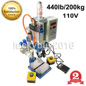 Newest 2 Buttons Pneumatic Press Machine 100 To 50 Type 200kg With Monitor Best