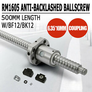 Anti Backlash Ballscrew Rm1605 500mm c7 End Machined 1 Set Of Bk bf12 1 Coupler