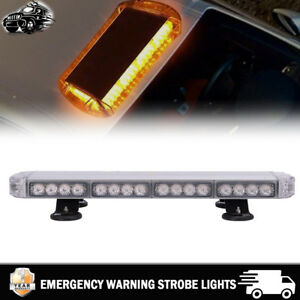 38 Led 23 Inch Amber Emergency Warning Strobe Lights Flash Directional Roof Top