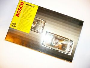 Bosch Pilot 150 Series Clear Lens Driving Fog Light Full Kit With Wiring Relay