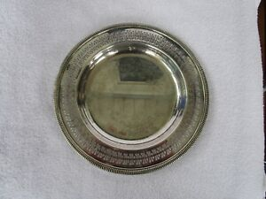 10 1 8 International Silver Co Round Serving Plate Platter Nice Vintage Item