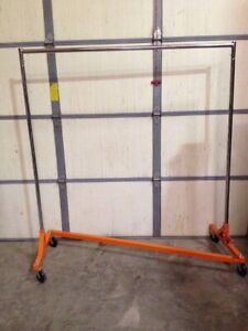 Econoco Commercial Rolling Z Rack W Kd Construction durable Square Tubing rzk8rn