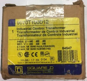 Square D 9070t100d12 Industrial Control Transformer