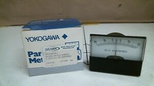 Lot Of 2 Yokogawa Ye 260 2r 50 0 50 Mvdc Panel Meters 25 0 25 Dc Amperes