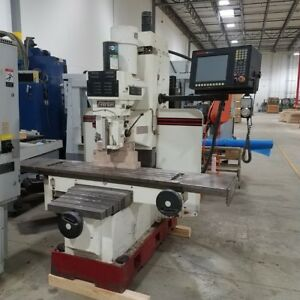 Used Fryer Mb 14 Cnc Vertical Machining Center Bed Mill Anliman 3000 Cnc