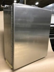14 X 12 X 6 Industrial Jic Wall Mount Enclosure Nema 4x 304 Stainless Steel