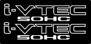 I Vtec Sohc 2 Pack Honda Civic Euro Drift Vinyl Decal Sticker Car Truck Window