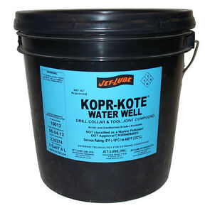 Jet Lube Kopr kote Water Well Compound 10012 Horizontal Directional Drills