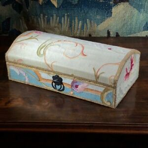 Aubusson Tapestry Fragment Box Mounted By Jacques Lamy 18th 20th Century