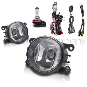 For 2006 2008 Mitsubishi Endeavor Fog Lights Bumper Lamps W wiring Kit Clear