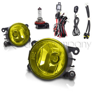 For 2017 Jeep Compass Fog Lights Front Driving Lamps W wiring Kit Yellow