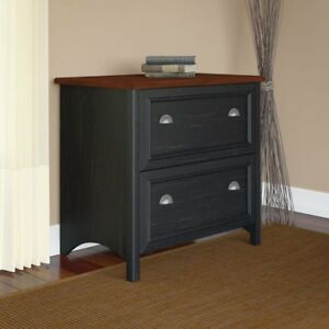 Stanford Lateral File Cabinet Antique Black
