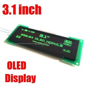 3 1 Inch Oled Lcd Screen 256x64 Oled Display Module Spi 3 3v Green Color