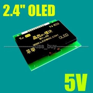 2 4 Inch Oled Lcd Screen 128x64 Yellow Display Module Spi 5v Io Leve F arduino