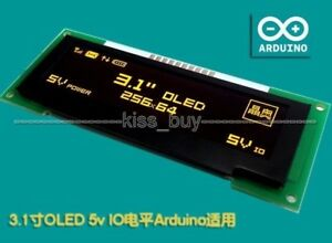 3 1 Inch Oled Lcd Screen 256x64 Oled Display Module Spi 5v F arduino R3 Yellol