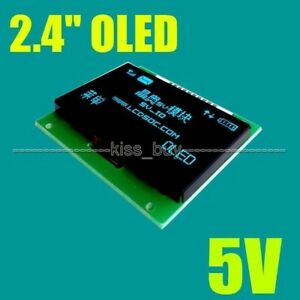 2 4 Inch Oled Lcd Screen 128x64 Blue Display Module Spi 5v Io Leve F Arduino