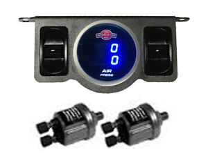 Air Gauge 200psi Dual Digital Display Panel 2 Switch Air Ride Suspension Control