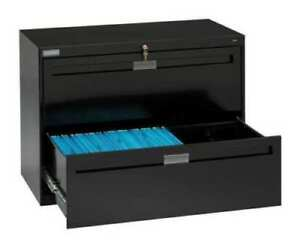Tennsco 2 Drawer Lateral File Cabinet Height 27 9 16 Width 36 Black