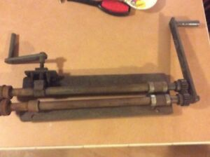 Antique Tool Sheet Metal Bead Roller About 24 In Wide