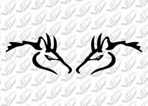 Hellhorse Pair Of Black Mustang Vinyl Decal Stickers 4 6 5 0 302 Cobra Gt