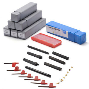 7pcs 12mm Shank Lathe Set Boring Bar Turning Tool Holder Kit With Carbide Insert