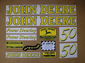 John Deere 50 New Decal Set For Tractors Bmtp11 80