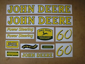 John Deere 60 New Decal Set For Tractors 17 29 459