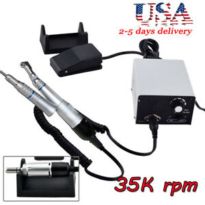Dental Electric Micromotor Grinding Unit Polisher W Contra Angle Straight Nose