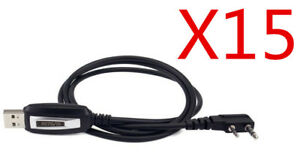15pcs Programming Cable Usb For Radio H777 Rt21 Bf 888s Kenwood Hyt