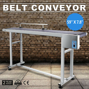 Top grade Conveyor 110v Powered Rubber Pvc Belt 59 x 7 8 New Best Price Hot