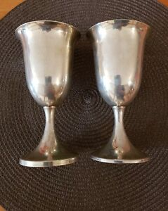 Preisner Sterling Silver Footed Water Goblet Set 5 Discontinued 6 1 2 High