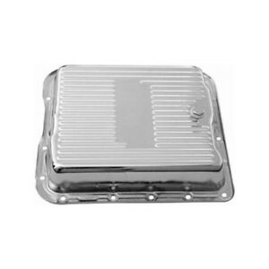 Rpc Automatic Transmission Oil Pan R7599 Finned Chrome Steel For Chevy 700 r4