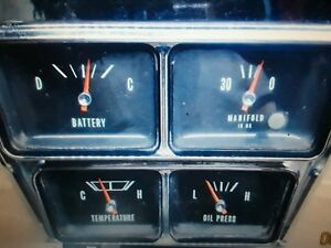 1966 Chevy Impala Ss Conv Rare Package Gauge Center Console Nice 396