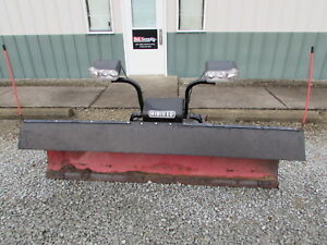 7 1 2ft Hiniker Snow Plow Updated Lights Comes With Control