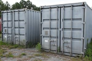20 Sea Containers Modified With Steel Shelving Tool Box Style