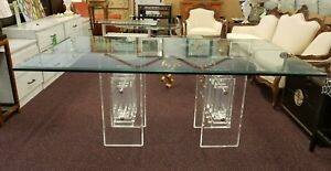 70 S Thick Delicious Stacked Lucite Dining Table