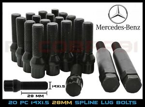 M14x1 5 Mercedes Benz Aftermarket Wheel Lug Bolts Spline Drive Tuner 2 Keys