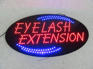 Eyelash Extension Real Led Sign Flashing Animated Oval 27x15x1 Salon Spa Signage