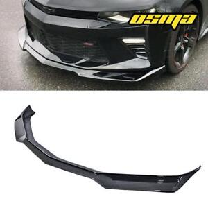 For 2016 2018 Chevy Camaro Ss Zl1 Style Black Bumper Front Lip Spoiler Air Dam