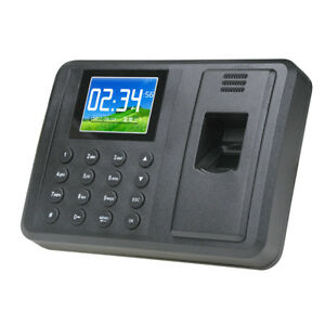 Biometric Fingerprint Time Attendance Employee Electronic Clock Recorder Wide