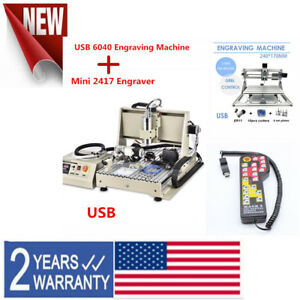 6040 4 Axis 1 5kw Usb Cnc Router Engraver Milling Machine Mini 2417 Engraver