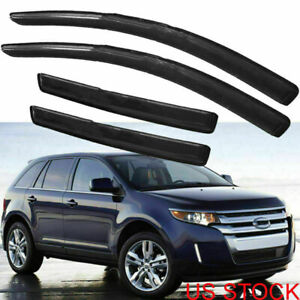 Window Visors Vent Rain Guard Deflector Tape On For 07 13 Ford Edge Lincoln Mkx