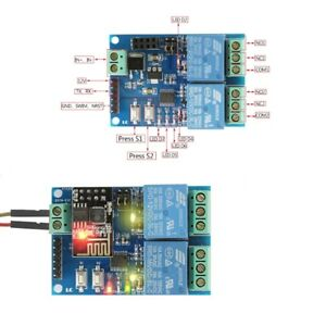 Wifi Relay Module Esp8266 Iot App Controller 2 channel For Smart Home 12v