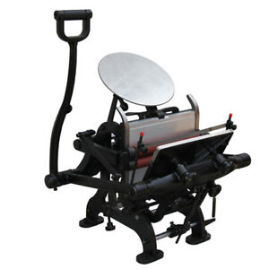 Brand New 7 5 X 9 9 Manual Letterpress Printing Machine With Plate Bed